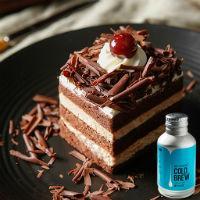拿铁冷萃+黑森林切块蛋糕