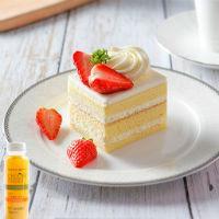 经典100%切块蛋糕配鲜榨橙汁套餐